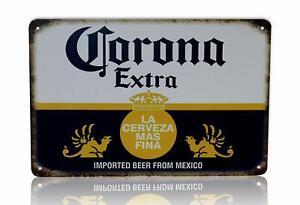 Corona-Beer-Man-Cave-Decor-Extra-Vintage-Retro-Metal-Sign-8-034-x-12-034