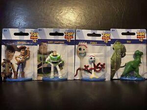 Disney Pixar Toy Story 4 Figurines Lot: Woody Buzz Lightyear Forky Rex Cake Topp