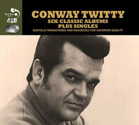 Conway Twitty Six (6) Classic Albums + Singles Remastered 93 Track 4 Cd