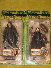 Boromir & Strider NEW Lord of Rings Fellowship Toy Biz LOTR