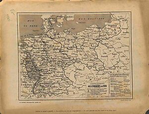"""Map Carte Allemagne Germany Deutschland Territoires Alliés Armistice de 1918 WWI - France - Commentaires du vendeur : """"OCCASION"""" - France"""