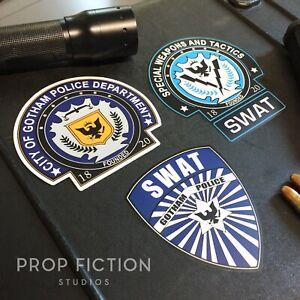 Batman-The-Dark-Knight-Prop-Gotham-Police-Case-Sticker-Set-Dressing-Decals