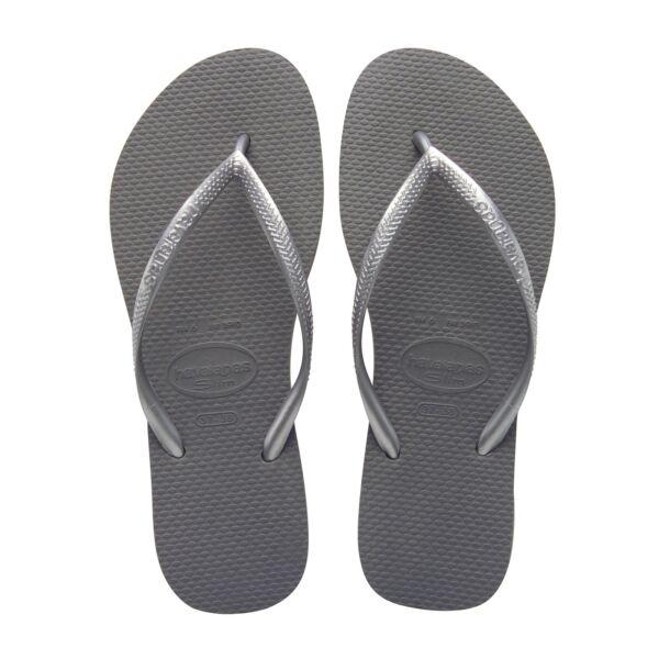 2019 Nuovo Stile Havaianas Slim Steel Grey Infradito Donna Flip Flop Woman Delizie Amate Da Tutti