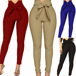 Women-039-s-Skinny-Casual-Jeans-Pants-High-Waist-Stretch-Slim-Fit-Pencil-Trousers