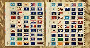 Scott# 1633-1682, 100: 13¢ stamps BICENTENNIAL ERA STATE FLAGS 1776-1976 MNH $13