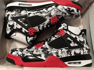 543415f4e83 Nike Air Jordan 4 Retro Tattoo Singles Day Black Fire Red BQ0897‌ ...