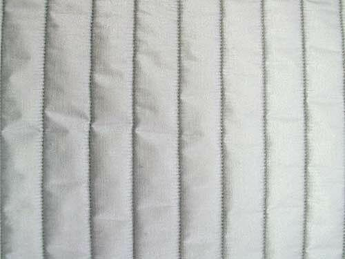 """43/""""  Wide Quilted Therma Flec Heat Resistant Fabric Silver Per Half Yard"""