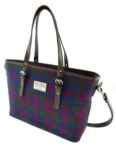 Ladies-Authentic-Harris-Tweed-Tote-Bag-Detachable-Strap-New-Design-LB-1028