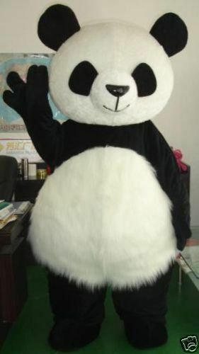 Chinese Panda Bear Mascot Costume Suit Fancy Dress Adult Size Cosplay Party