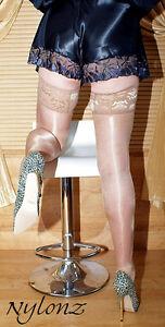 3-pairs-NYLONZ-Luxury-Gloss-Shine-LaceTop-Hold-Ups-Stockings-NATURAL