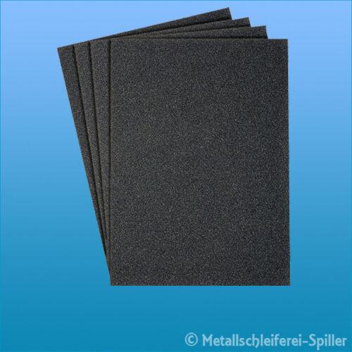 Farbe Lack 50x Schleifpapier 230x280 mm wasserfest PS 11 C Korn 60-400