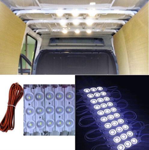 Super Bright 20 Pcs 12V Car Van Caravan Trailer Interior Module Light Cool White