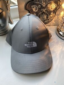 THE-NORTH-FACE-GREY-LIGHTWEIGHT-BASEBALL-STYLE-CAP-HAT-ADJUSTABLE-BN