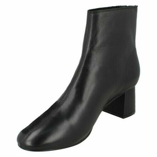 Ladies Leather Collection Mid Heel Twin