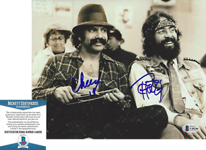 CHEECH-MARIN-amp-TOMMY-CHONG-SIGNED-UP-IN-SMOKE-8x10-MOVIE-PHOTO-B-BECKETT-COA-BAS