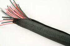 38mm RETROFIT BRAIDED SLEEVE HILWRAP BRAID WRAP BLACK 1MTR - same as PRO POWER