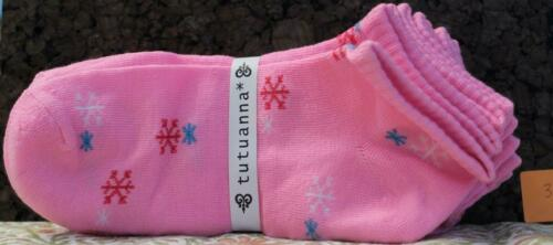 TutuAnna Women/'s Low Cut No Show Socks--5 Pack #3 Pink w Snowflakes