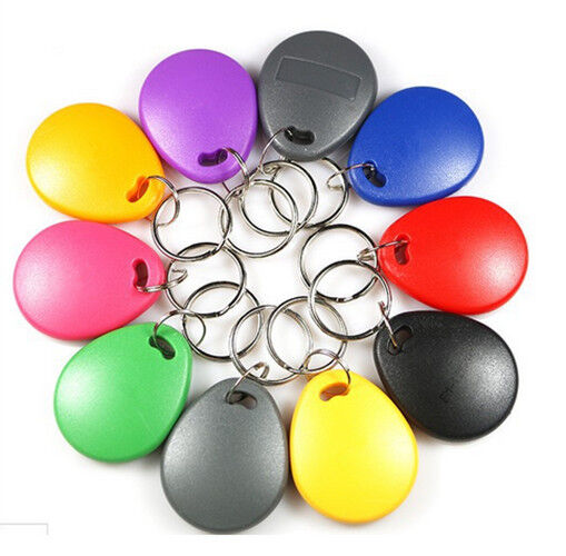 100pcs 125kHz Keyfobs Proximity Fob Works With Prox Key 1346 26-Bit H10301