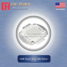 1pcs 100w Watt High Power Royal Blue 440 450nm Smd Led Chip Cob Lamp Lights