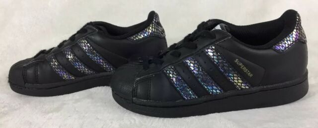 45ec949101b5 adidas Original Superstar Girls  Preschool Casual Shoes Black BB5409 Sz 11K