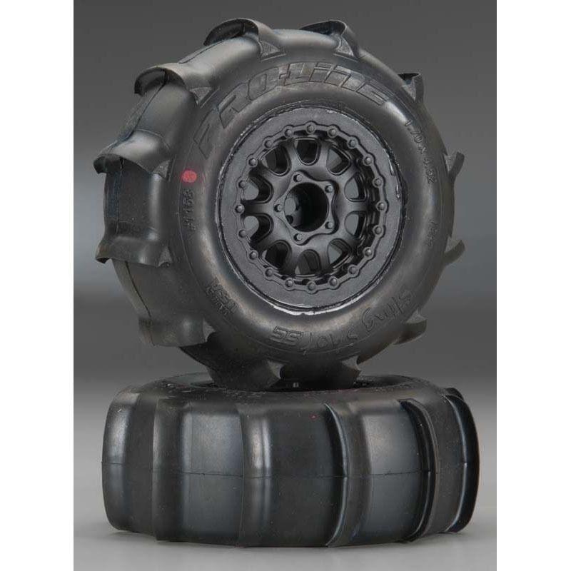 Proline 1158-17 Sling Shot SC 2.2  3.0 XTR Tires (2) Mounted Slash 4wd f&r