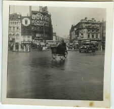 PHOTO ANCIENNE - VINTAGE SNAPSHOT - LONDRES PICCADILLY CIRCUS TRIPORTEUR 1932