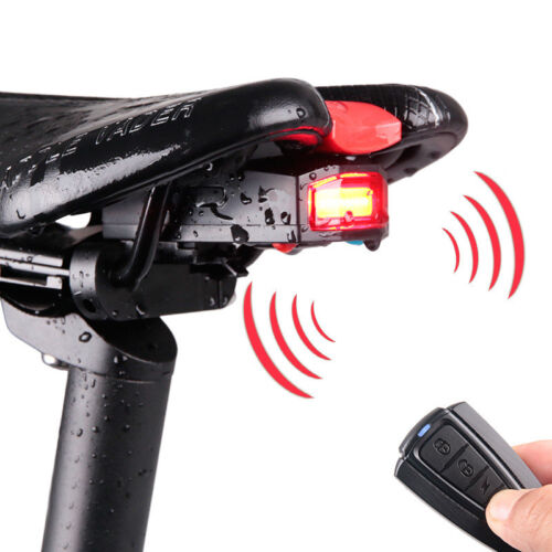 Bicycle Safety Wireless Rear Light Cycling Remote Control Alarm Anti Theft Lock