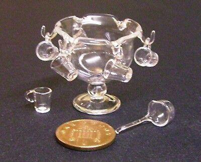 1:12 Scala Piccolo Bicchiere Vuoto Punch Bowl Tumdee Casa Delle Bambole Accessorio Bere G26-mostra Il Titolo Originale