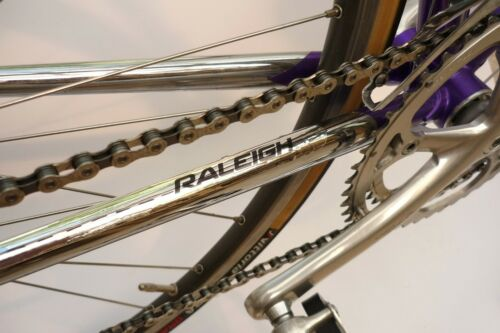 Chrome Vinyl Chainstay Protector Raleigh Repro Velobitz
