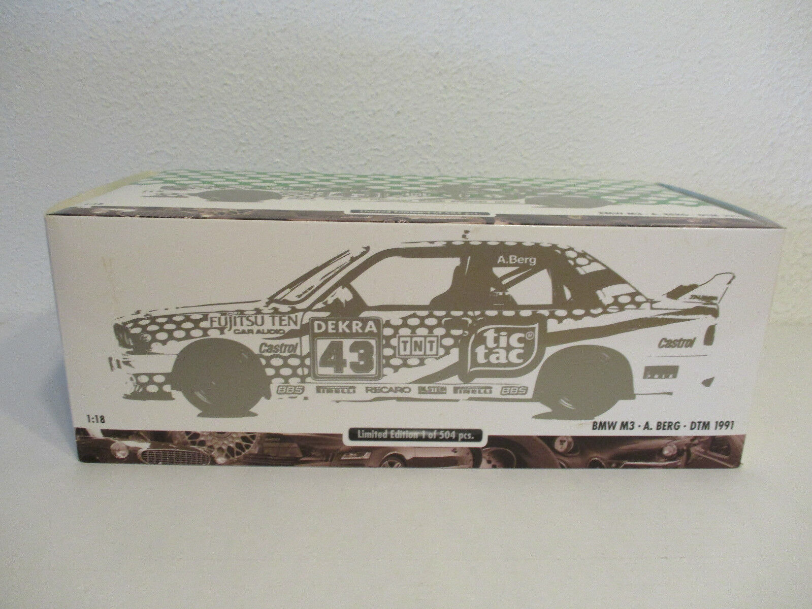 (gol) bmw m3 dtm 1991 18 minichamps a.montagnes neuf emballage scell é