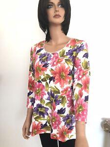 Scott Polyester Fresh Floral Top Fashion Cotton Designer Karen Knit L fd1qwzxwp