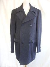 "Mens Coat - Unknown, 40"" chest, M?, grey, wool, cashmere, silk, angora - 8211"