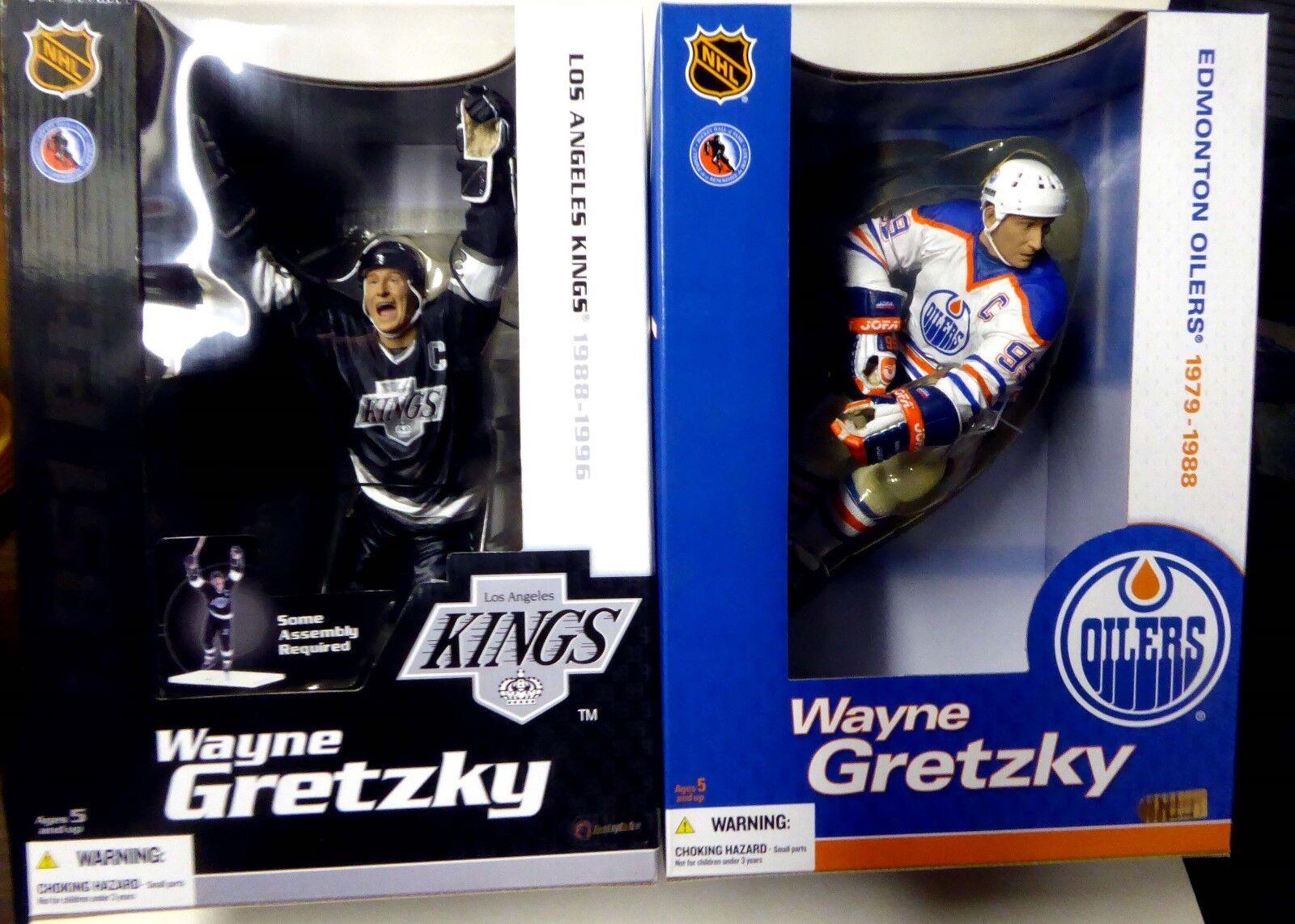 12 in (approx. 30.48 cm) serie 1 Wayne Gretzky 2 figura conjunto Mcfarlane Sports NHL Hockey 2004 Nuevo