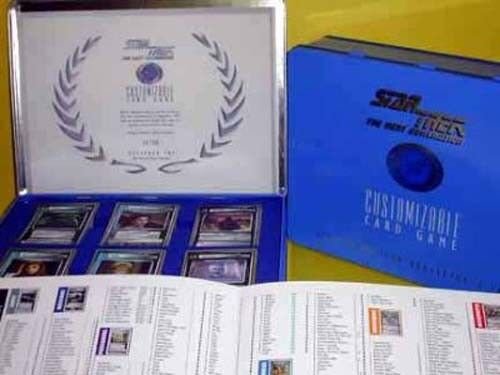 STAR TREK TNG COLLECTIBLE CARD TIN w CERTIFICATE of AUTHORITY LIMITED to 30,000