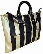 BORSA A SPALLA DONNA NERO/ORO BORBONESE PELLE SERPENTE WOMAN BAG BLACK/GOLD 9546
