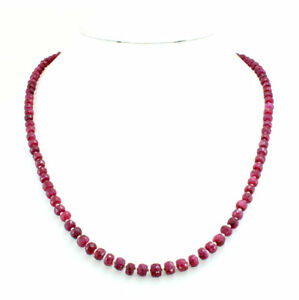 Necklace-natural-red-ruby-gemstone-round-beaded-925-solid-sterling-silver-25-gm