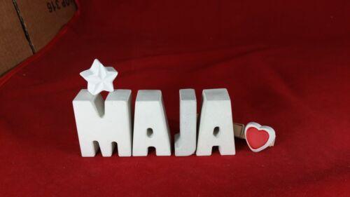 Béton Steinguss lettres 3d Deco nom Maja comme cadeau emballé!