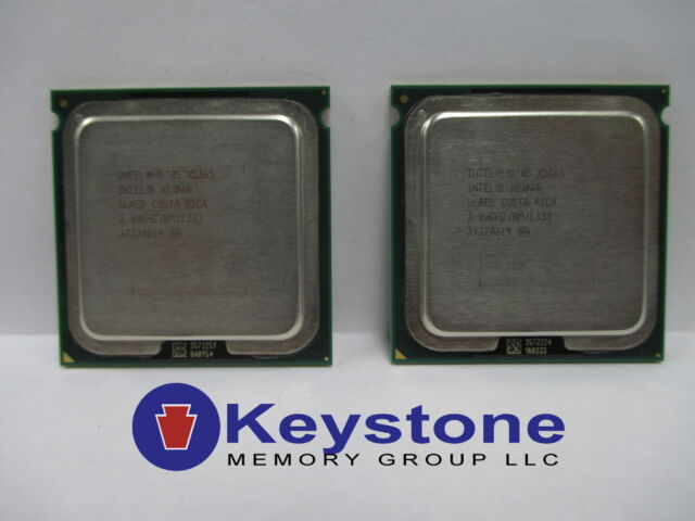 LOT OF 2 Intel Xeon X5365 SLAED 3.0 GHz LGA 771 Quad Core CPU *km
