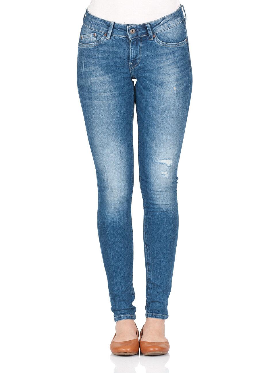 Pepe Jeans Damen Jeans Pixie - Skinny Fit - Blau Blau Blau - Denim 5d4ebe