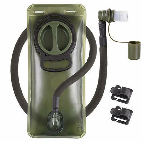 Hydration Bladder 2L Leakproof 2 Liter Water Reservoir BPA Free Military Green