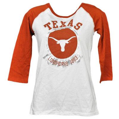Sport Ncaa Texas Longhorns 1883 Folie Logo Mid Ärmel T-shirt Damen Erwachsene Damen üPpiges Design