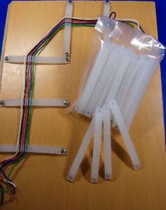 100x-Kabelhalter-fuer-Kabelverlegung-z-b-fuer-Spur-H0-n-z-tt-0-1-Modellbahn-H1x4