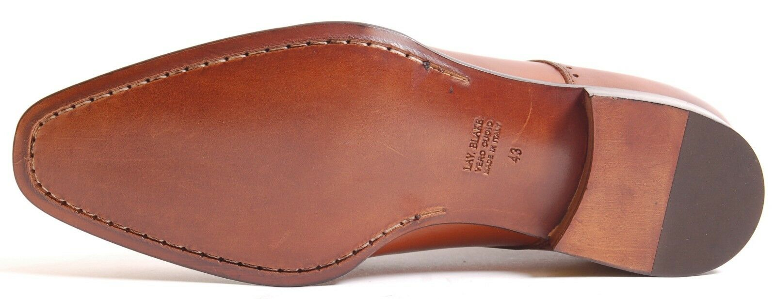 Acc Hand Made Italian Lace Up Plain Patina Real Leather 1735