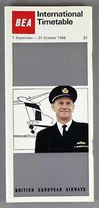 BEA-BRITISH-EUROPEAN-AIRWAYS-INTERNATIONAL-AIRLINE-TIMETABLE-SUMMER-1966-NO-37