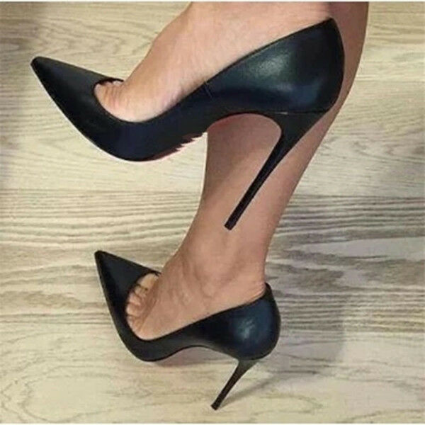 Womens Pointy Toe Plus Size shoes Pumps Slim High Heel shoes Party Sexy Stiletto