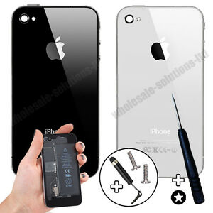 Genuine-Glass-Replacement-Back-for-Apple-iPhone-4-4S-Rear-Battery-Cover