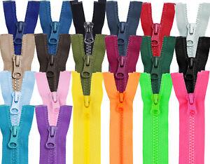Reissverschluss-grob-5mm-teilbar-Kunststoff-15-20-25-30-35-cm-Zipper
