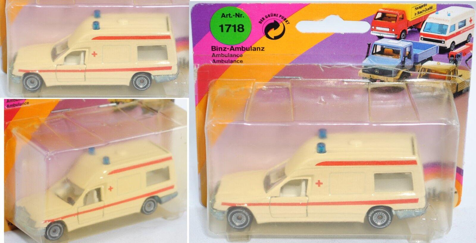 SIKU SUPER 1718 00001 MERCEDES-BENZ 260 E, Binz-Ambulance, environ 1 56