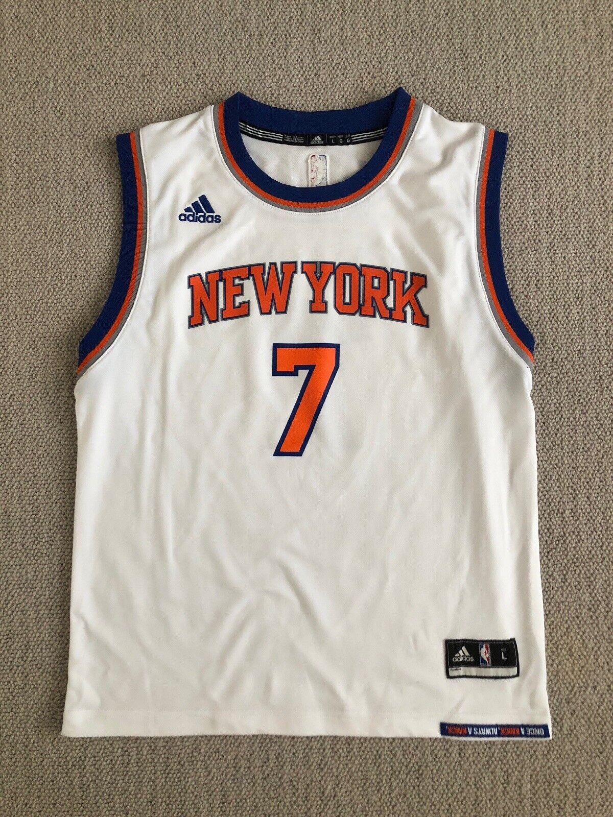 New York Knicks Anthony 7, Blanc Basket-ball 14-16 Top Kids Grand Âge 14-16 Basket-ball ans a0d0b6