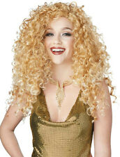 Adult Disco Diva Do Blonde Long Curly Costume Wig
